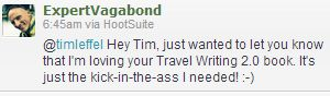 travel writing book testimonial