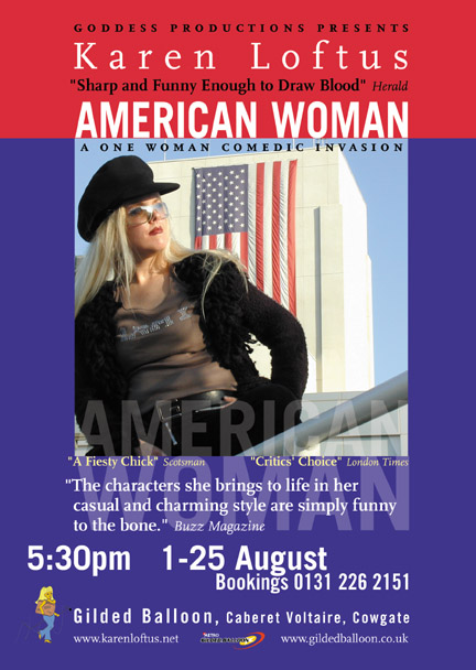 Karen American Woman Flyer