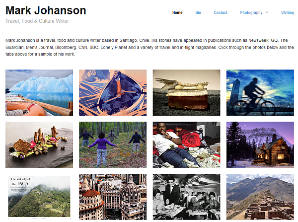 portfolio site travel writer