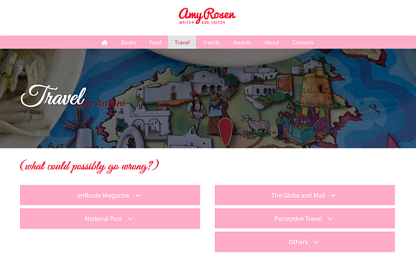Amy Rosen portfolio site