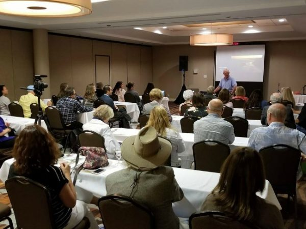 Professional development sessions at travel writers conference