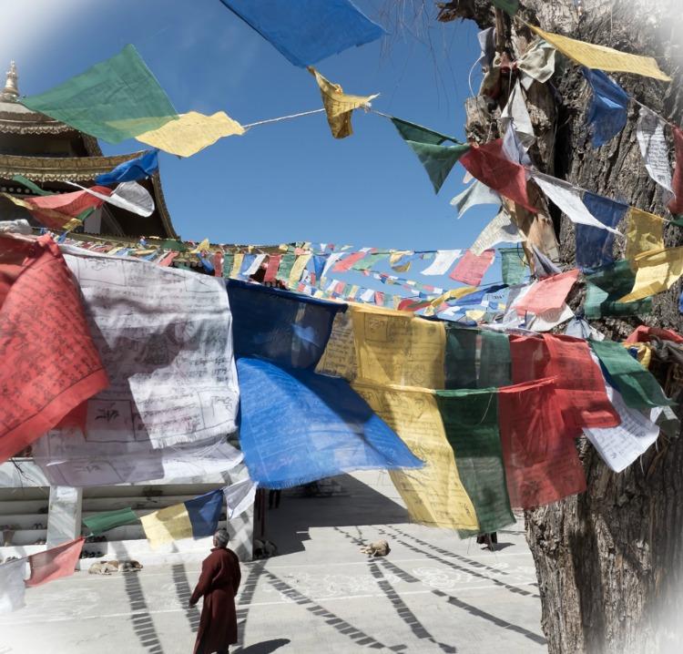 Prayer flags in Nepal - Mark Sissons on TravelWriting2.com