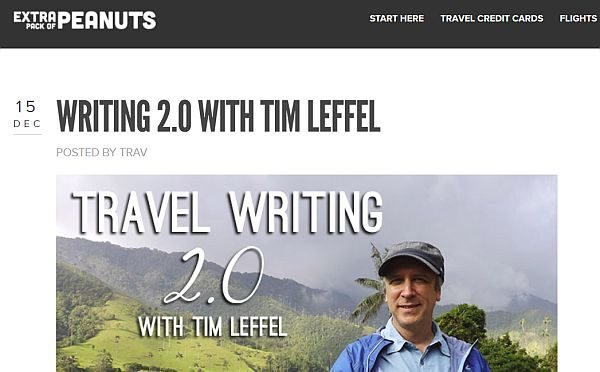 Tim Leffel on travel podcast