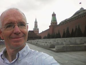 travel author in Red Square Moscow