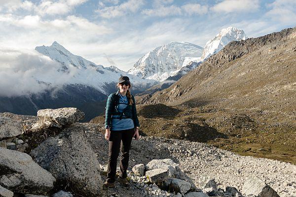 South America travel writer Steph Dyson in Huarez Peru