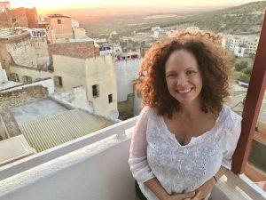 Lavinia Spalding traveling in Morocco