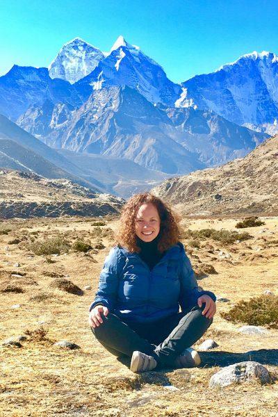 Lavinia Spalding travel writer and anthology editor in Nepal