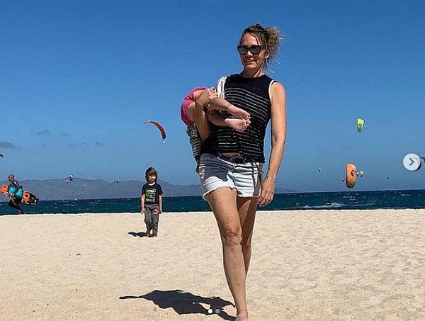 Terry in Baja on the beach
