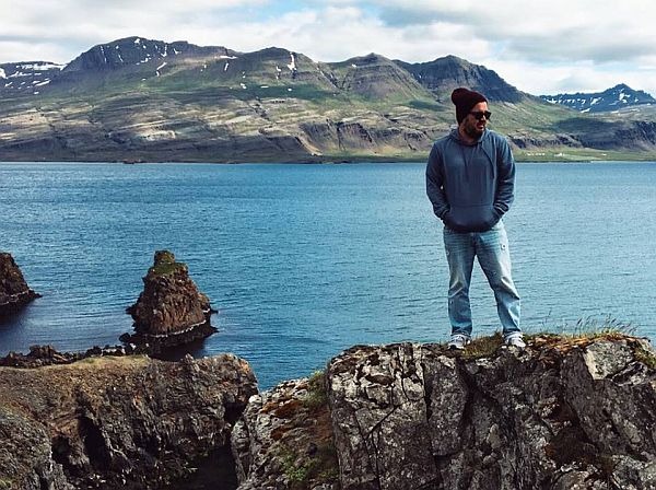 Nathan Aguilera in Iceland